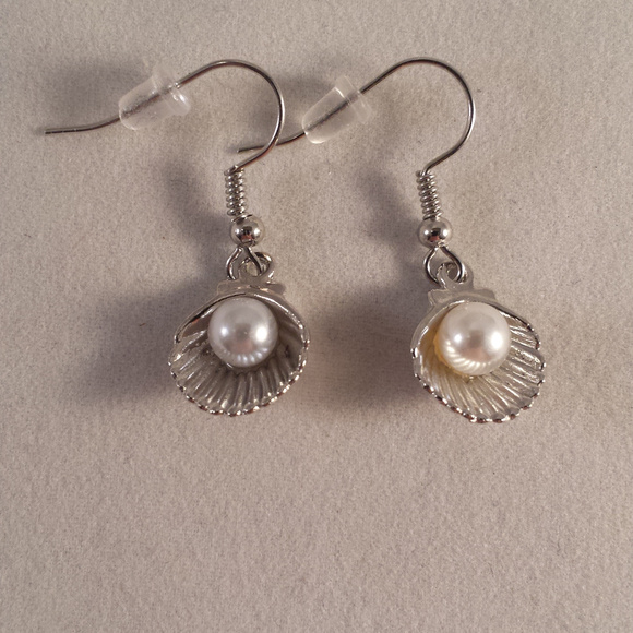 00b68b4e6 Kristy's Jewels Jewelry | Silver Pearl Seashell Earrings ...